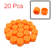 20 Pcs 19mm Orange Silicone Car Vehicle Wheel Tyre Hub Screw Bolt Nut Cap Covers