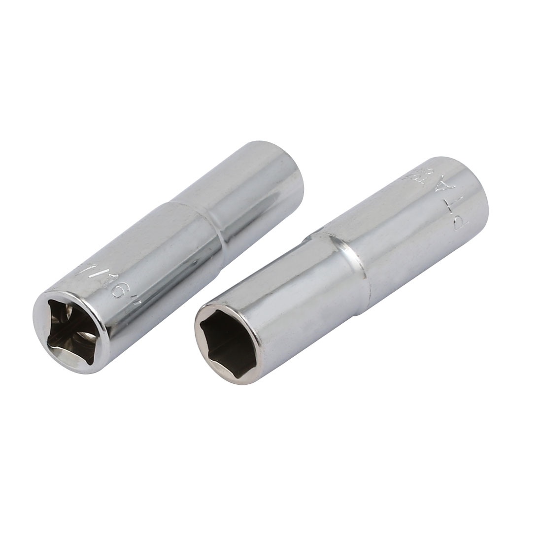 3/8-inch Square Drive 7/16-inch 6 Point Impact Socket CR-V Steel 2pcs