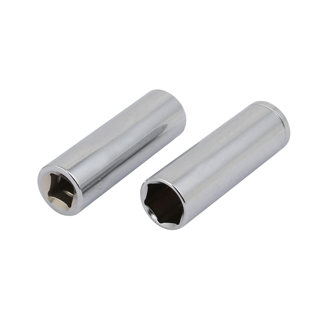 3/8-inch Square Drive 9/16-inch Hex 6 Point Deep Impact Socket Silver Tone 2pcs