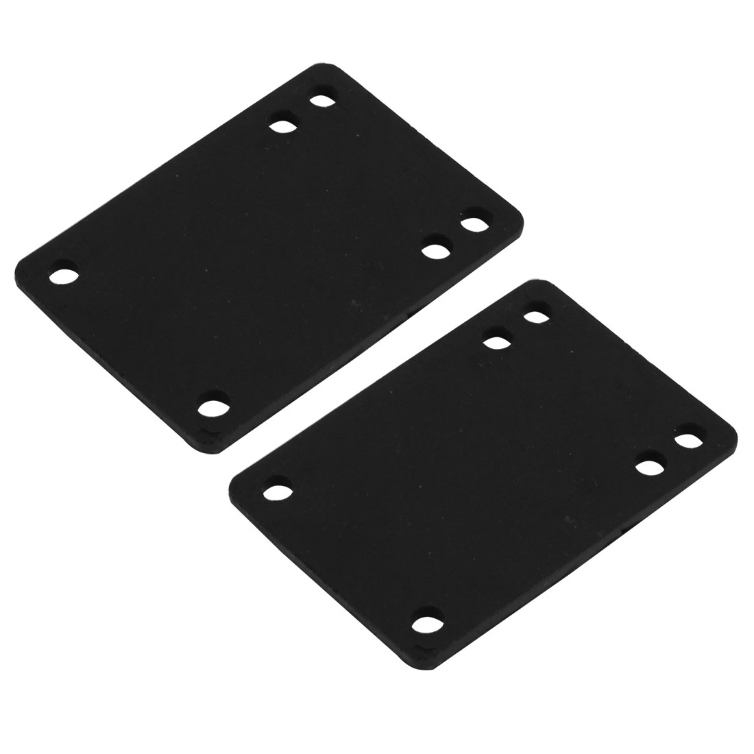 Skateboard Accessories Rubber Rectangle Shaped Riser Pad Black 3mm Thickness 2pcs