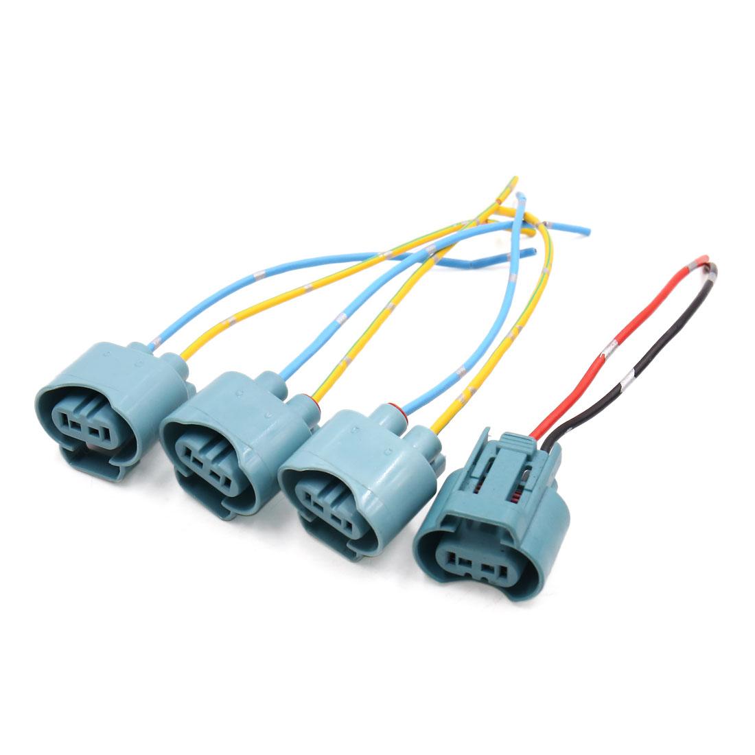 4Pcs 9005 Fog Light Lamp Bulb Socket Wiring Harness Connector Holder for Car