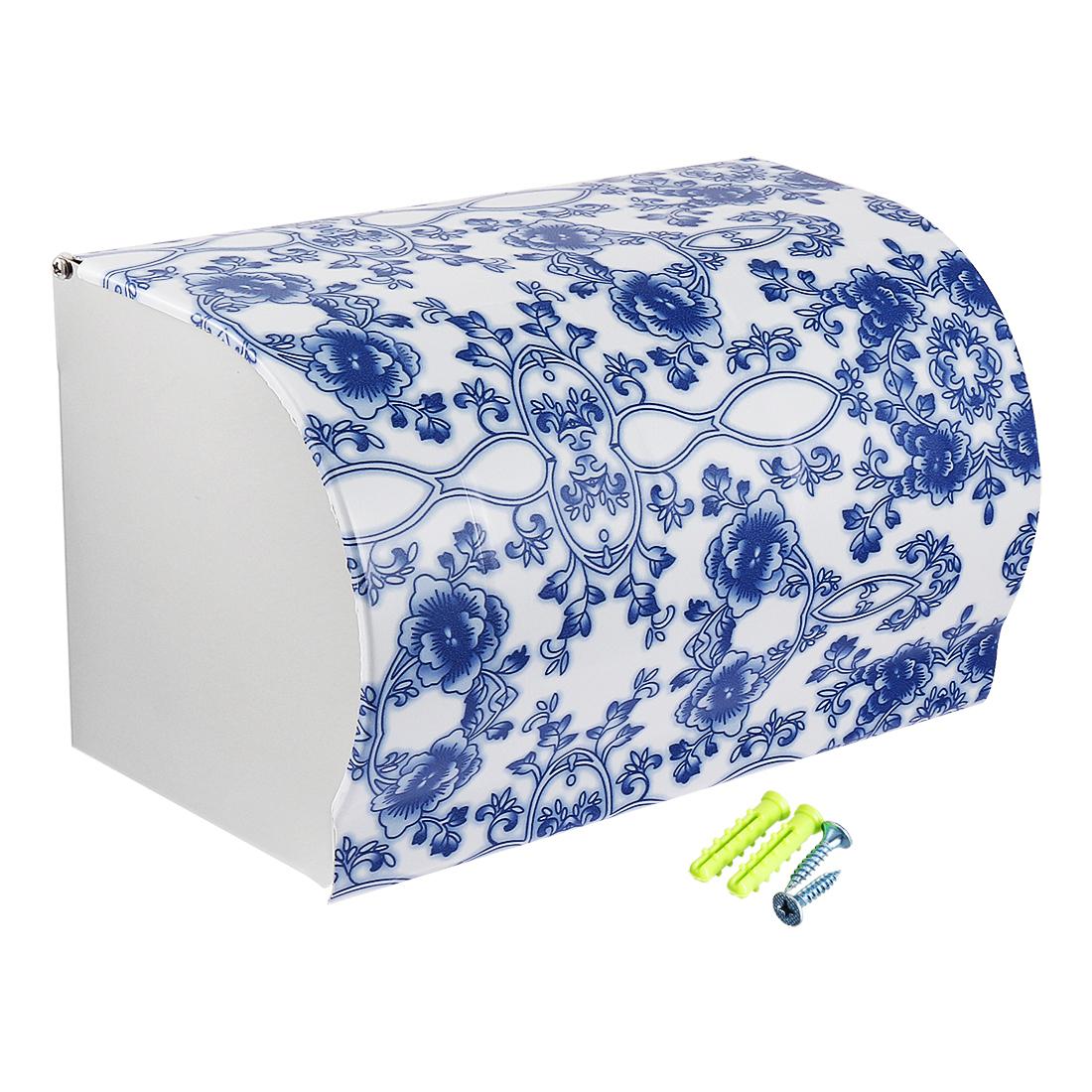 Toilet Paper Roll Dispenser Holder w Cover Stainless Steel 197mm Length Glossy
