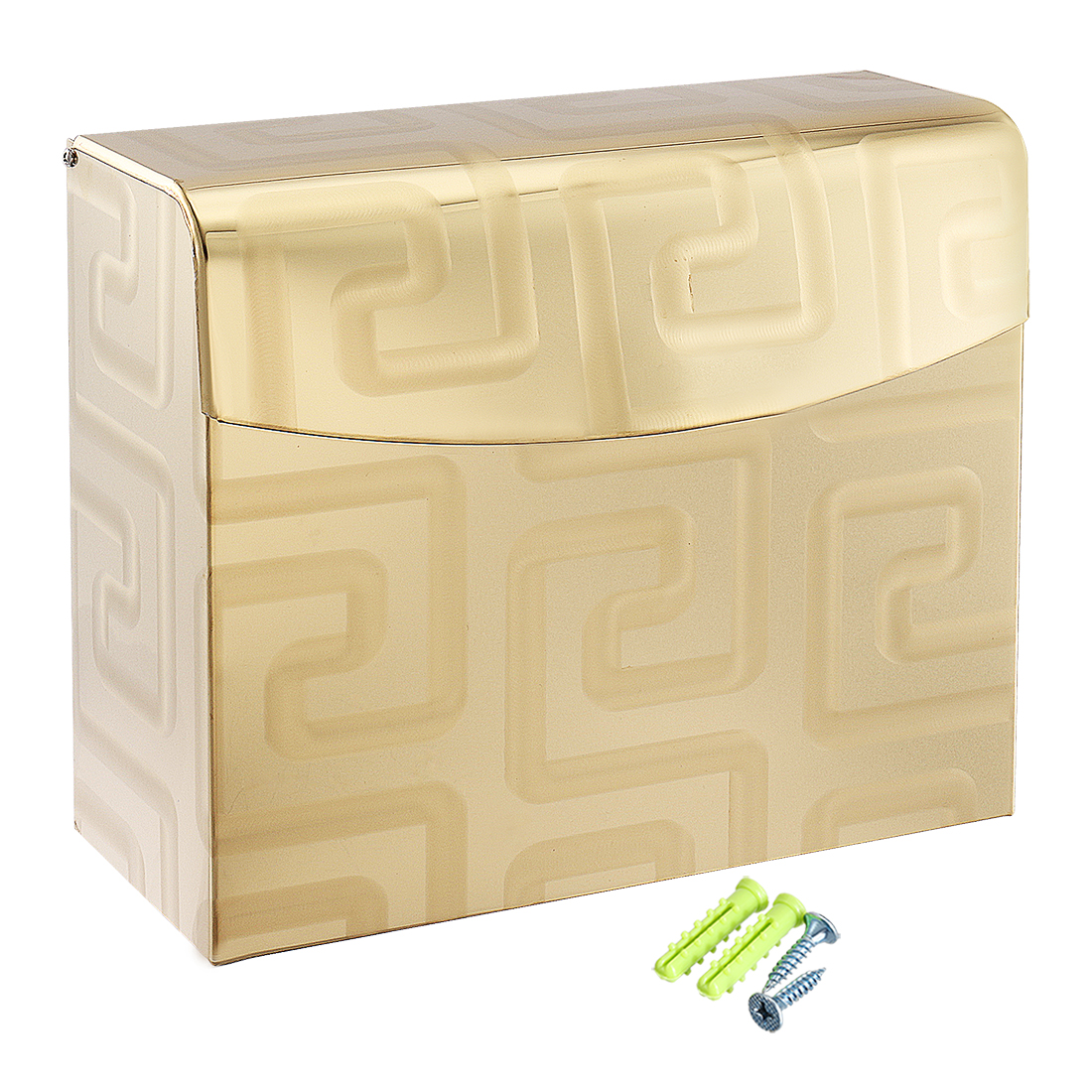 Toilet Paper Holder w Cover Bathroom Accessories Gold Tone, Polished Finish K30