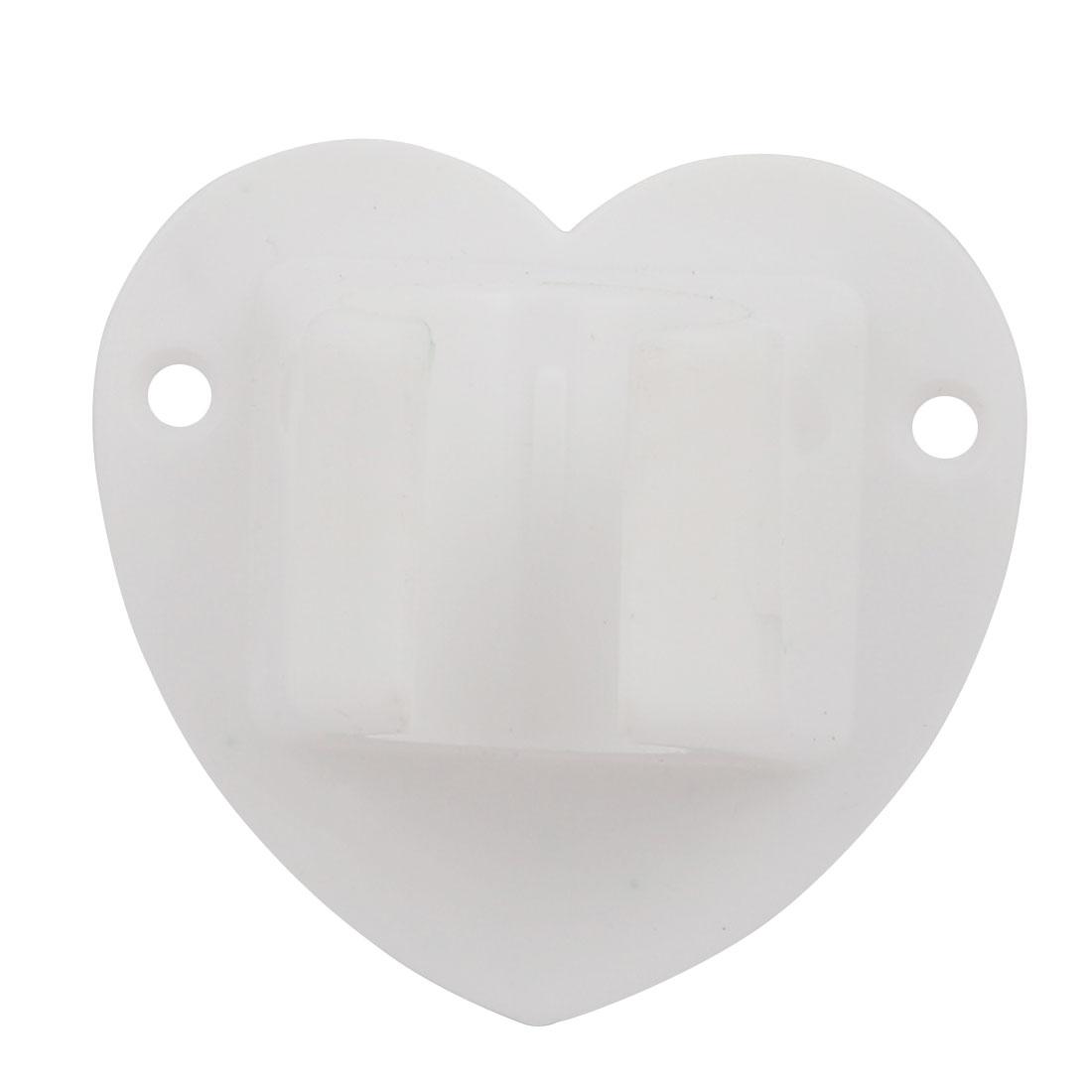 Bathroom Shower Accessory Plastic Wall Mount Bracket White w Screws