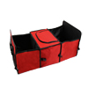 Red Car Trunk Organizer Multipurpose Storage Portable Collapsible Cargo Box w Insulated Compartment