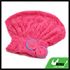 Magenta Bowknot Decor Microfiber Fast Drying Hair Wrap Cap Absorbent Shower Hat Towel for Bath Spa
