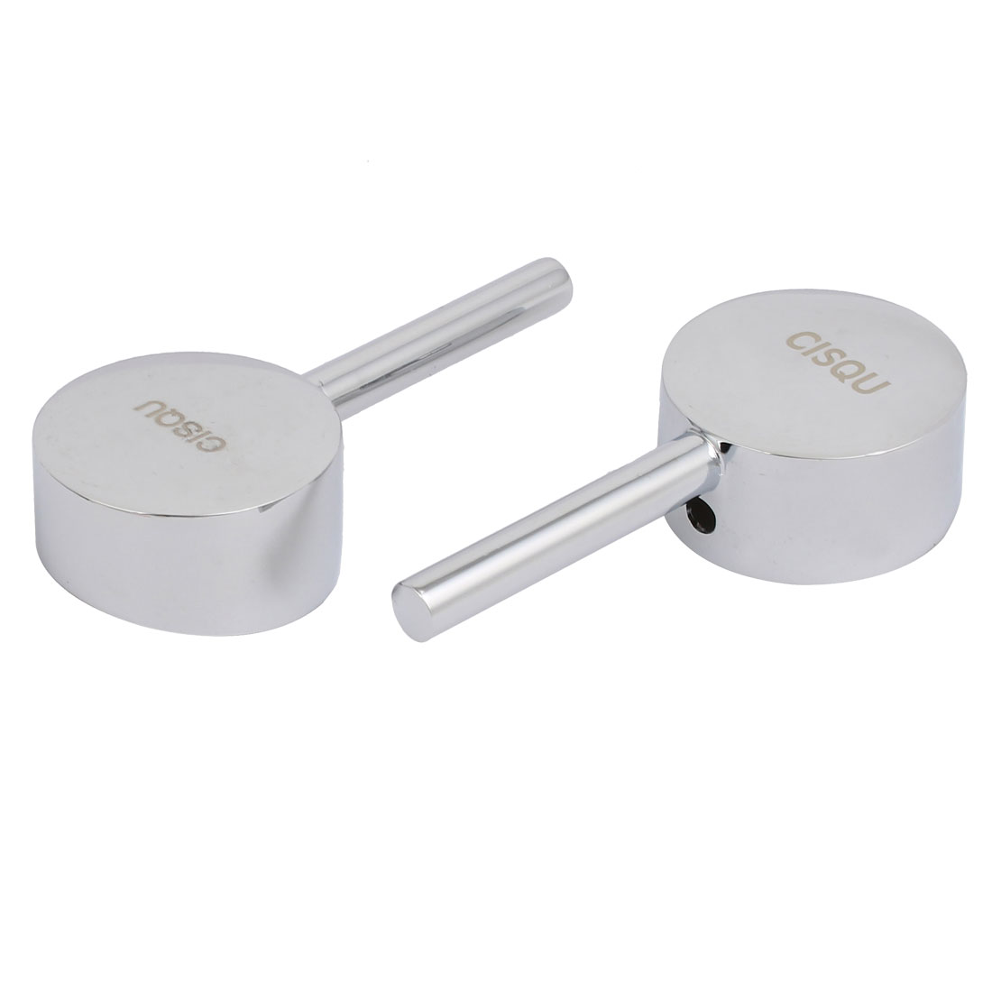 2pcs Faucet Zinc Alloy Chrome Plated Single Lever Handle Knob w Set Screw