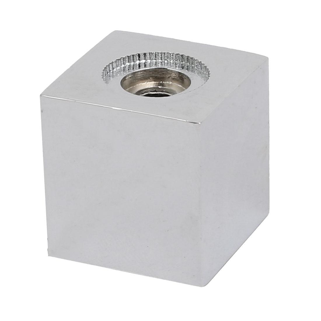 Faucet Fitting Zinc Alloy Universal Square Handle Kits Silver Tone