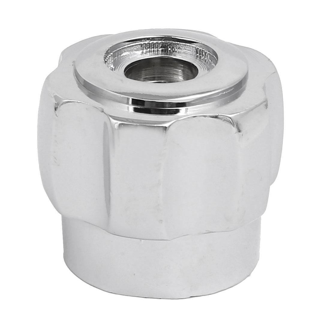 35mmx30mm Zinc Alloy Faucet Water Tap Handle Grip Knob Silver Tone