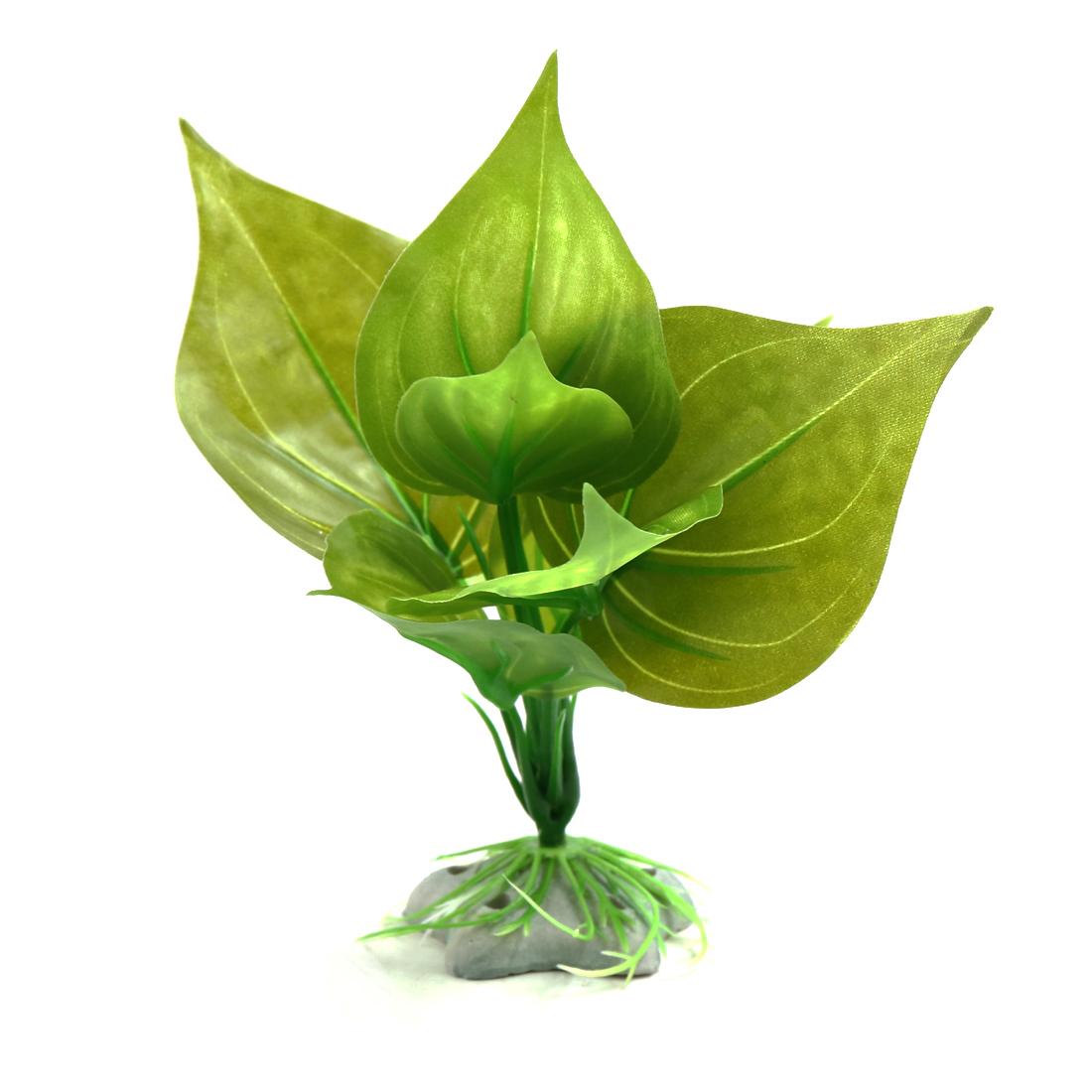 Green Indoor Aquatic Leaves Plant Aquarium Tank Waterscape Decorative Ornament