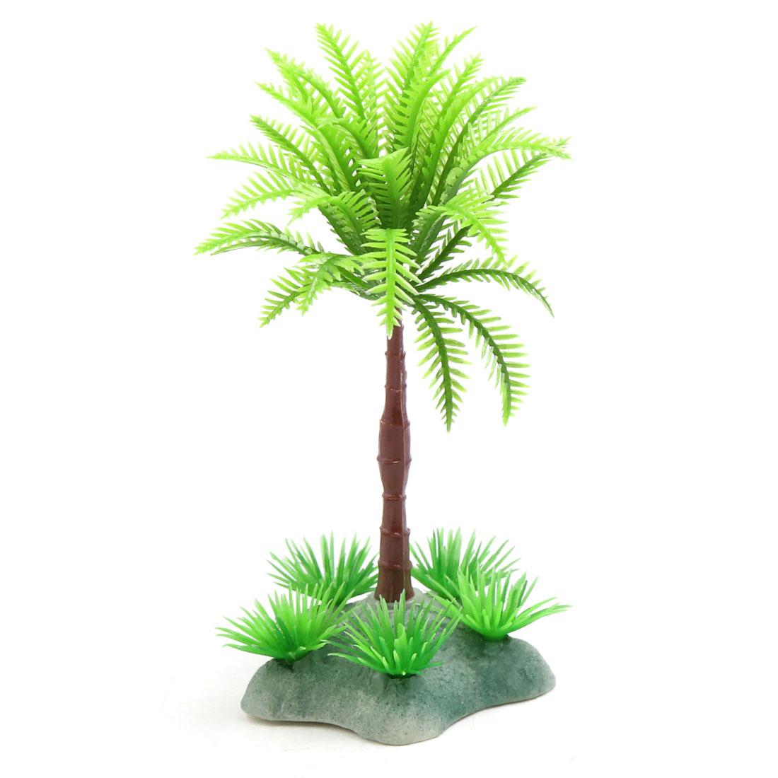 Plastic Coconut Tree Aquarium Terrarium Aquascape Decorations for Reptiles