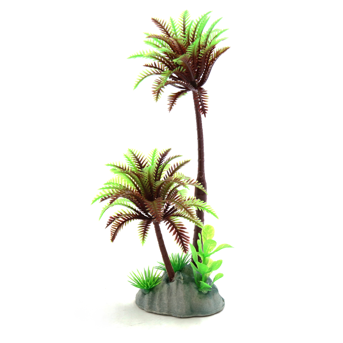 Plastic Coconut Trees Terrarium Tank Decorations for Reptiles Amphibians Lizards