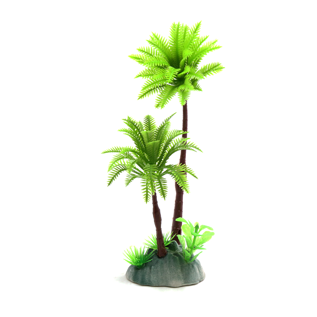 Plastic Coconut Trees Terrarium Tank Decoration for Reptiles Amphibians Lizards