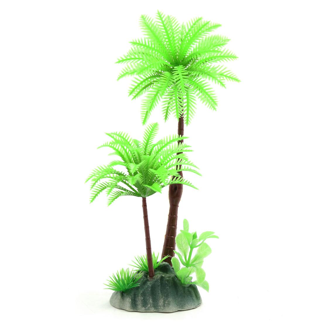 Plastic Coconut Tree Terrarium Tank Ornament for Reptiles Amphibians Lizards