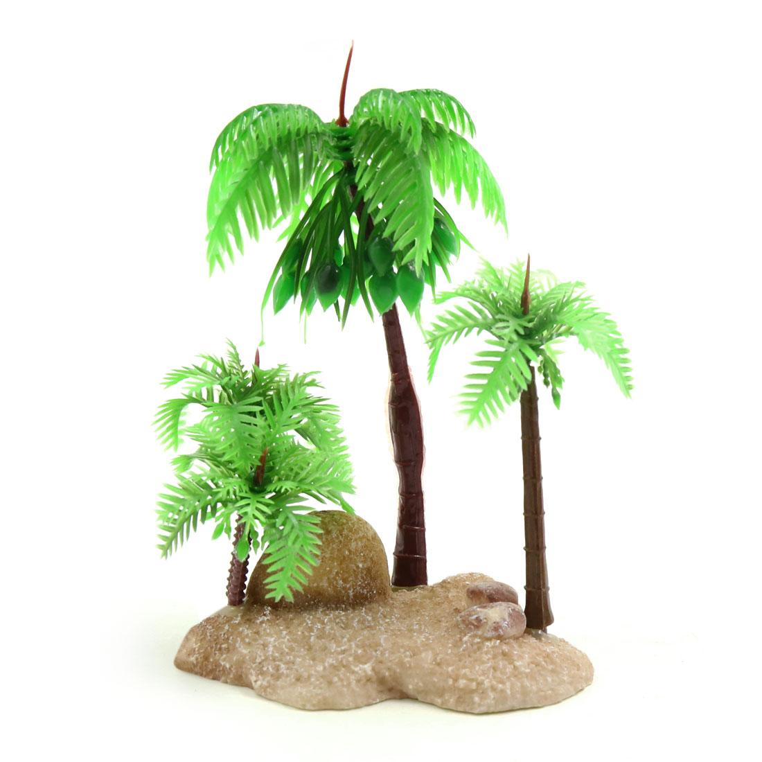 Terrarium Plastic Decoration Coconut Tree for Reptiles Amphibians