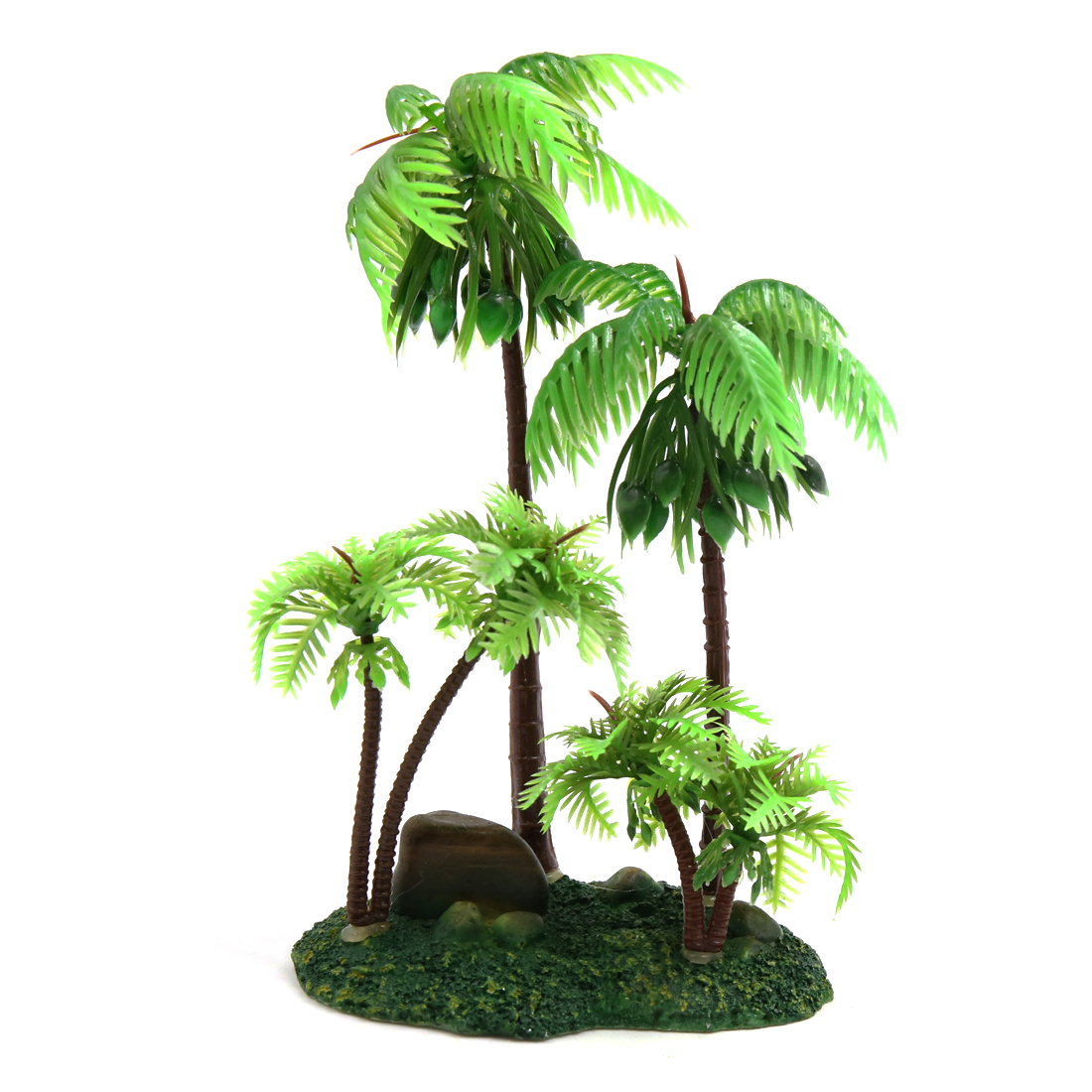Plastic Coconut Tree Aquarium Terrarium Decor for Reptiles Amphibians