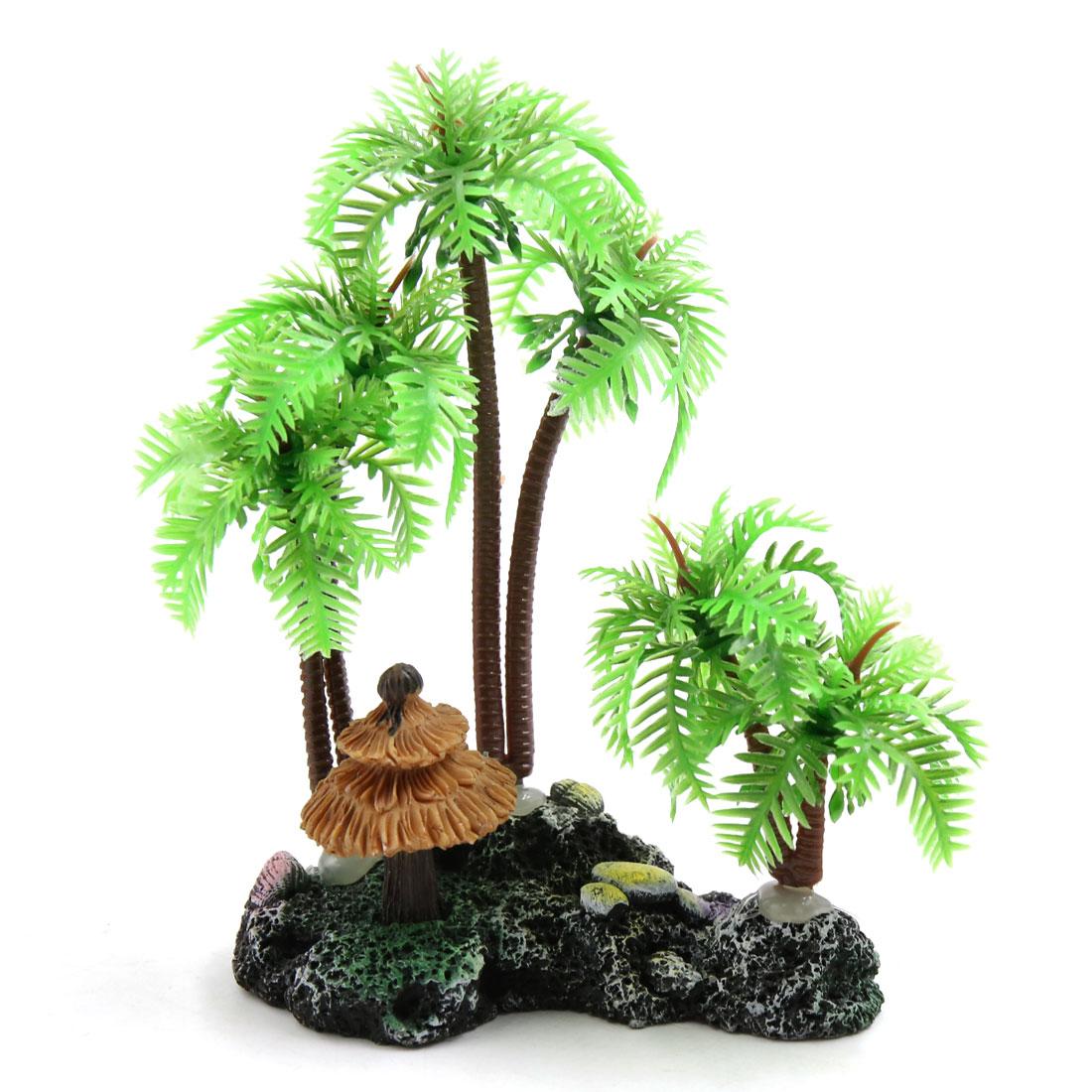 Mini Coconut Tree Aquarium Terrarium Reptile Tank Plant Decoration