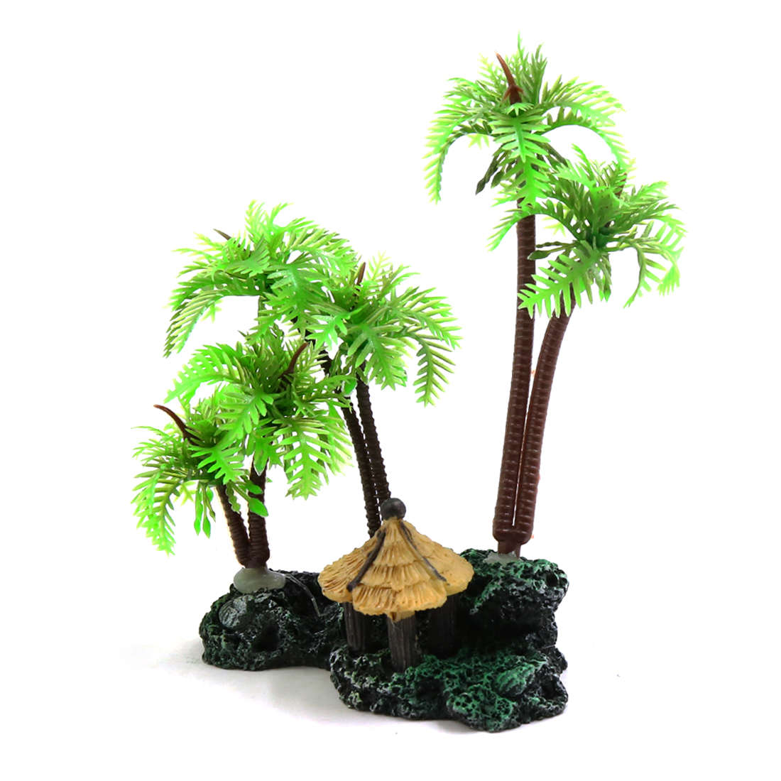 Mini Coconut Tree Aquarium Terrarium Reptile Tank Plant Ornament
