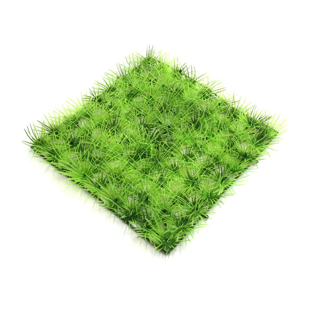 Green Plastic Grassland Lawn Aquarium Fish Tank Aquascape Ornament