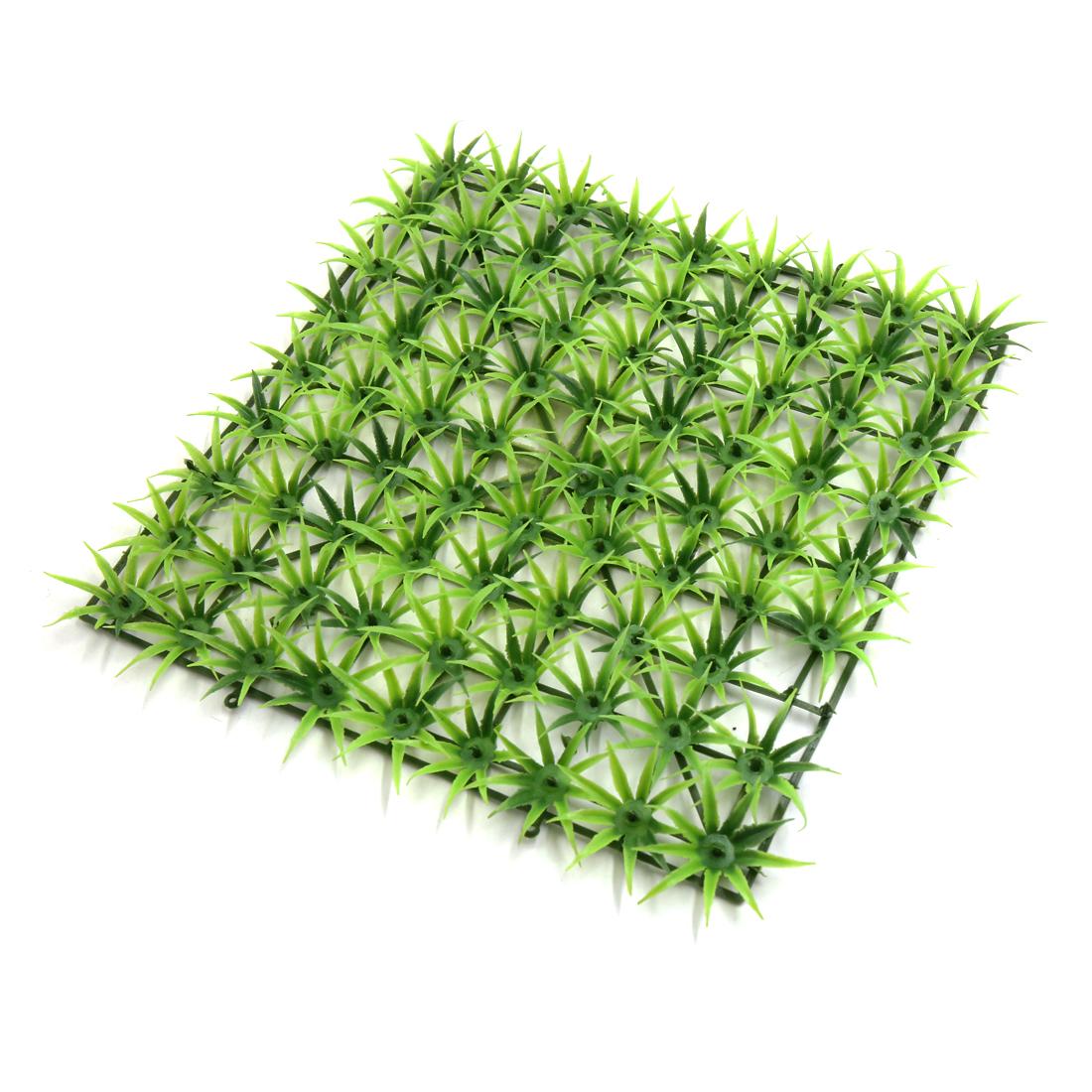 Green Plastic Grass Lawn Aquarium Tank Underwater Aquascape Ornament