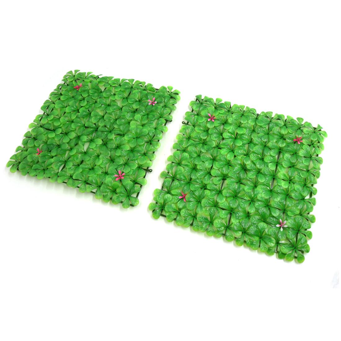 2pcs Green Plastic Grassland Lawn Aquarium Fish Tank Decor Ornament