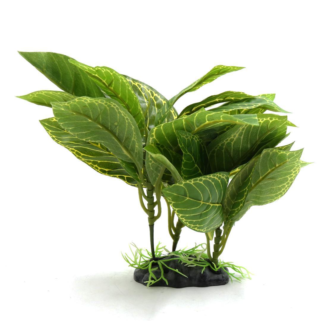 Plastic Terrarium Lifelike Plant Decor Ornament for Reptiles and Amphibians