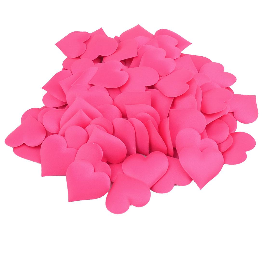 Wedding Valentine Party Heart Shaped Flower Petal DIY Decoration Fuchsia 300pcs