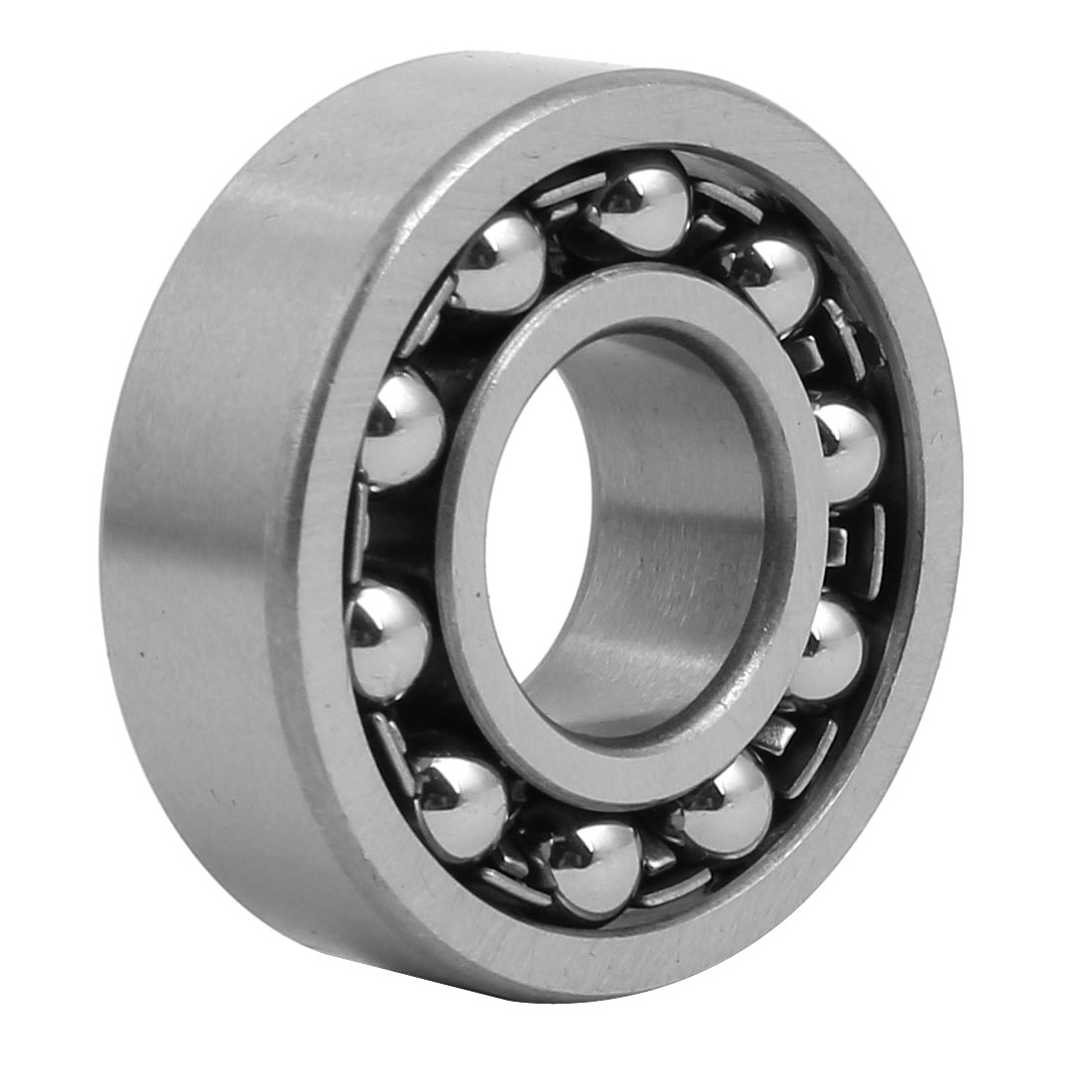 15mmx35mmx11mm Double Row Self Aligning Ball Bearing Silver Gray 1202