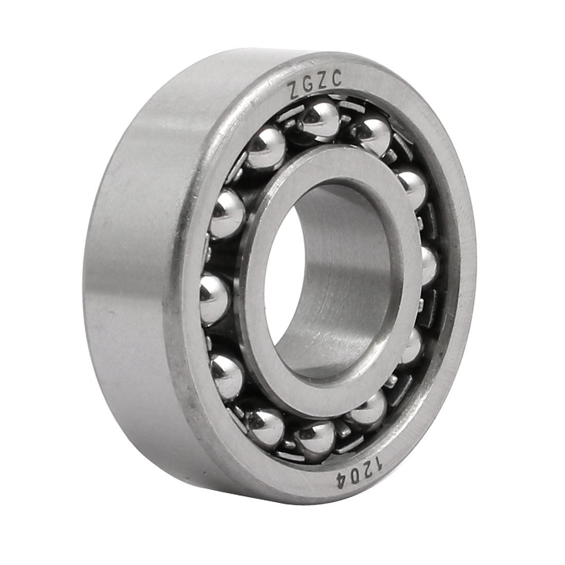 20mmx47mmx14mm Double Row Self Aligning Ball Bearing Silver Gray 1204