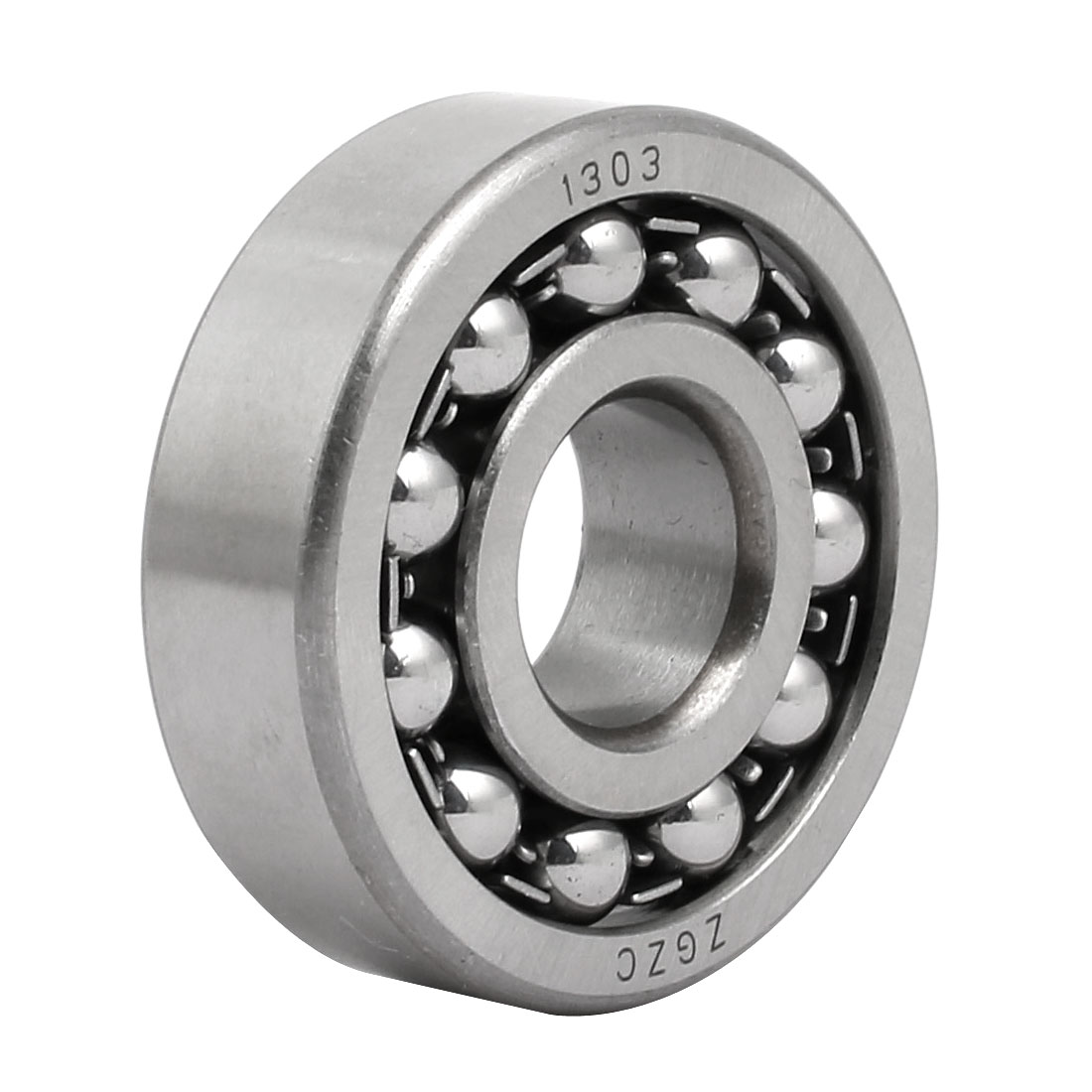17mm Inner Dia 47mm OD 14mm Thickness Self Aligning Ball Bearing 1303