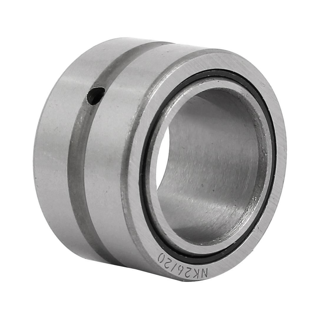 NKI22/20 22mmx34mmx20mm Inner Ring Needle Roller Bearing Silver Tone