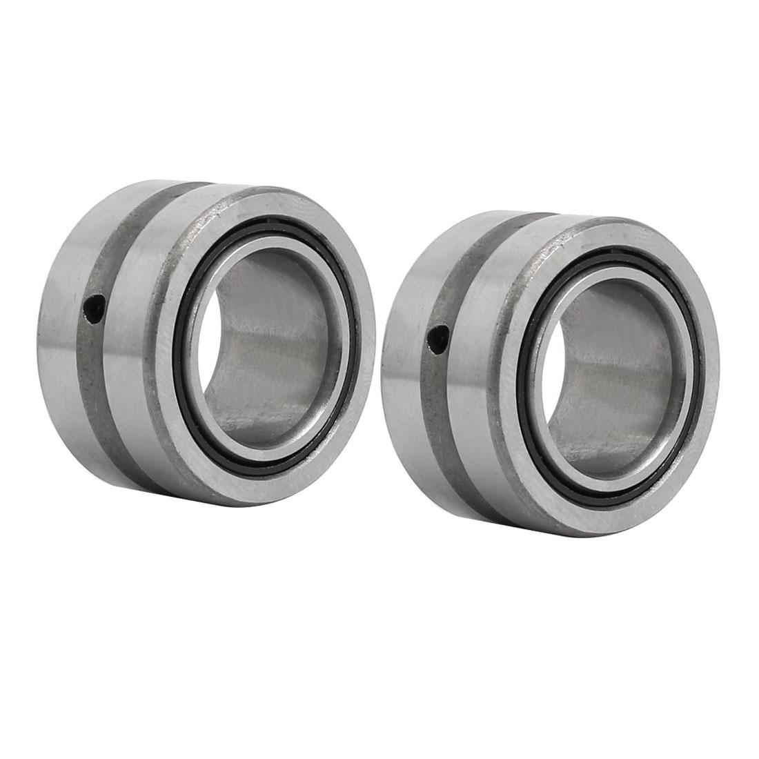 NKI17/16 17mmx29mmx16mm Inner Ring Needle Roller Bearing Silver Tone 2pcs