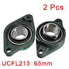 2PCS Pillow Block Bearing UCFL213 65mm Inside Dia Two Boltflange Cast Hosing