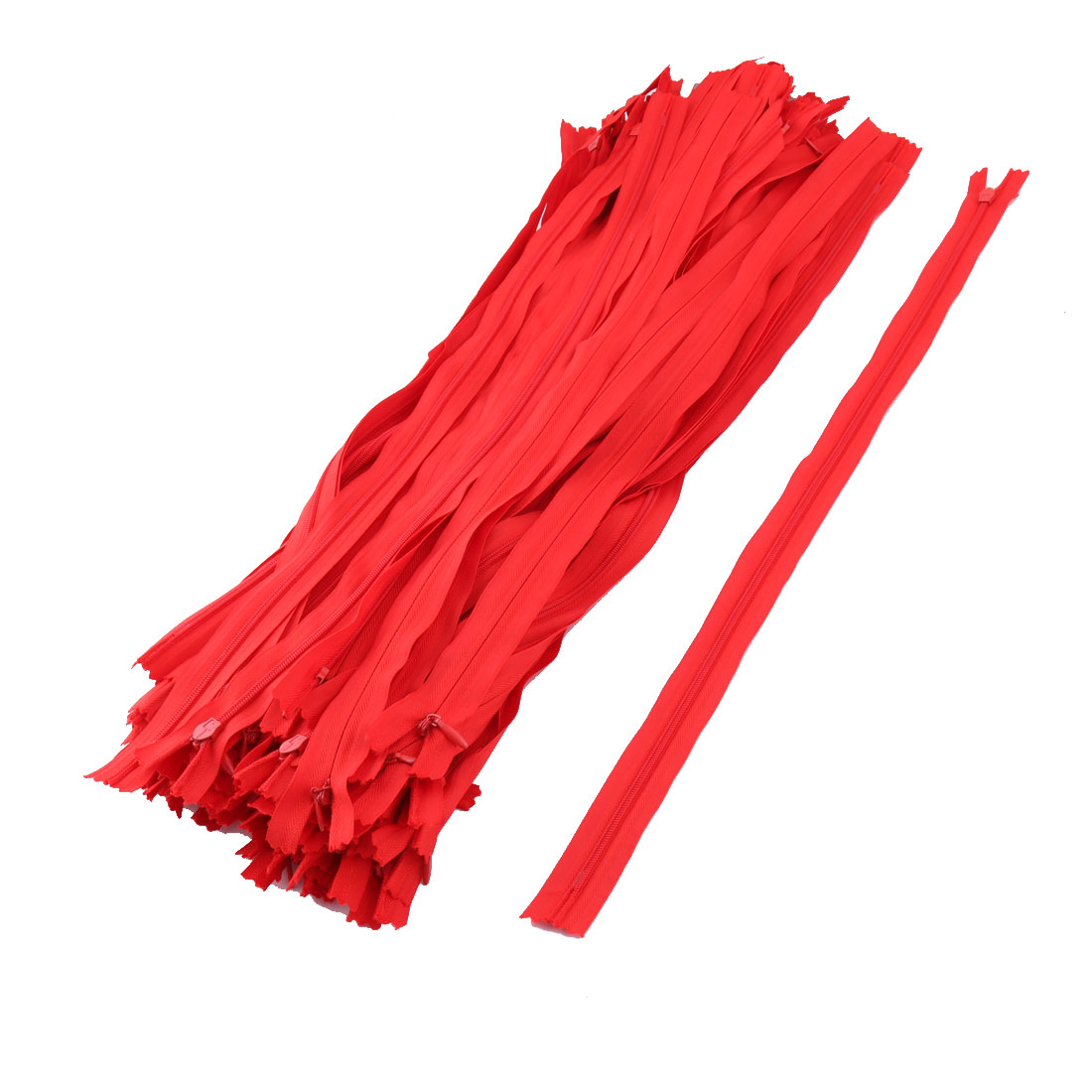 Dress Skirt Pants Invisible Zipper Sewing Craft Tool Red 20 Inch Length 100pcs