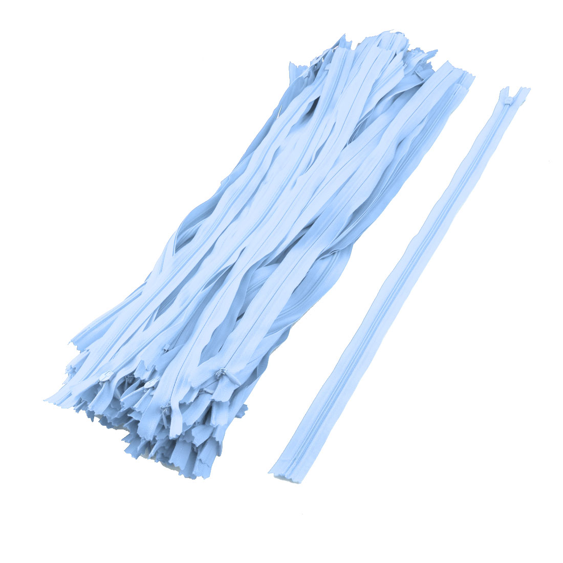 Household Nylon Invisible Zipper Sewing Tool Blue 20 Inch Length 100pcs