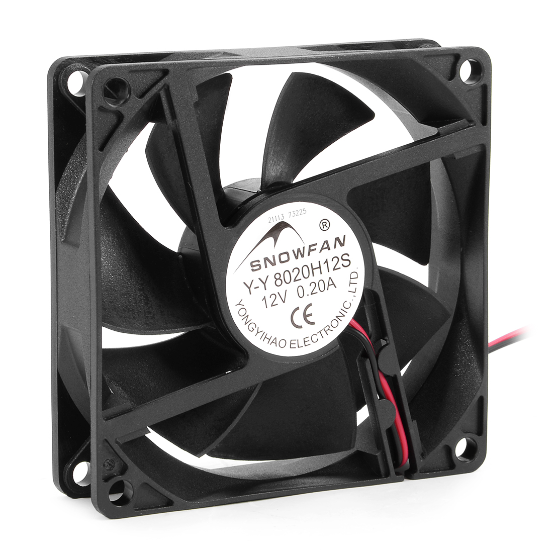 80mm x 80mm x 20mm 12V DC Cooling Fan Long Life Sleeve Bearing Computer Case Fan