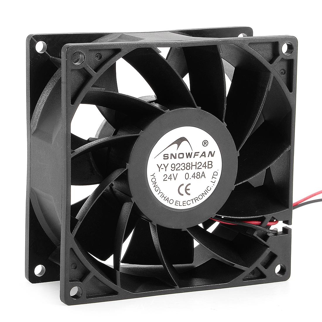 92mm x 38mm 24V DC Cooling Fan Long Life Dual Ball Bearing Computer Case Fan