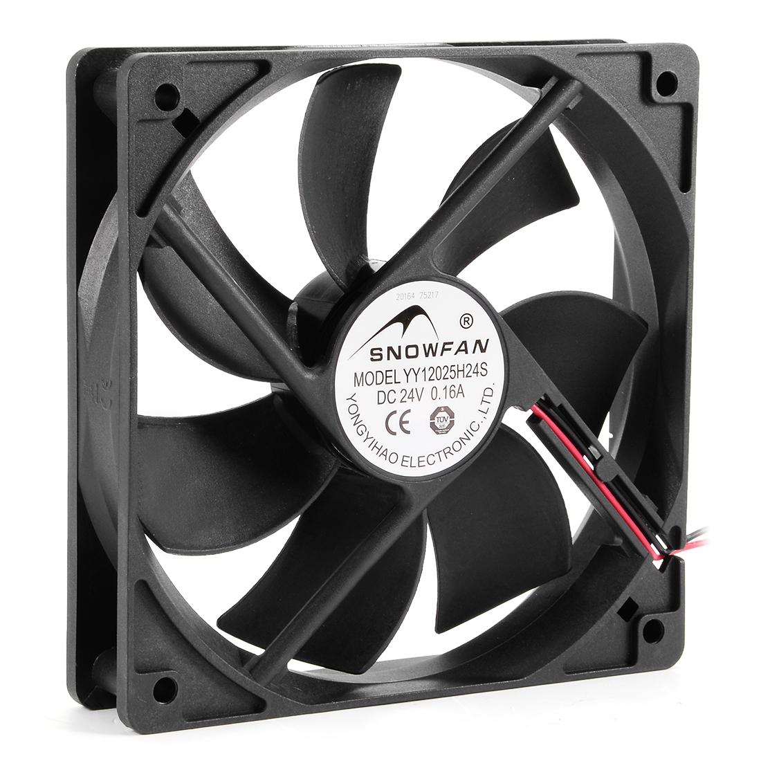 120mm x 25mm 24V DC Cooling Fan Long Life Sleeve Bearing Computer Case Fan