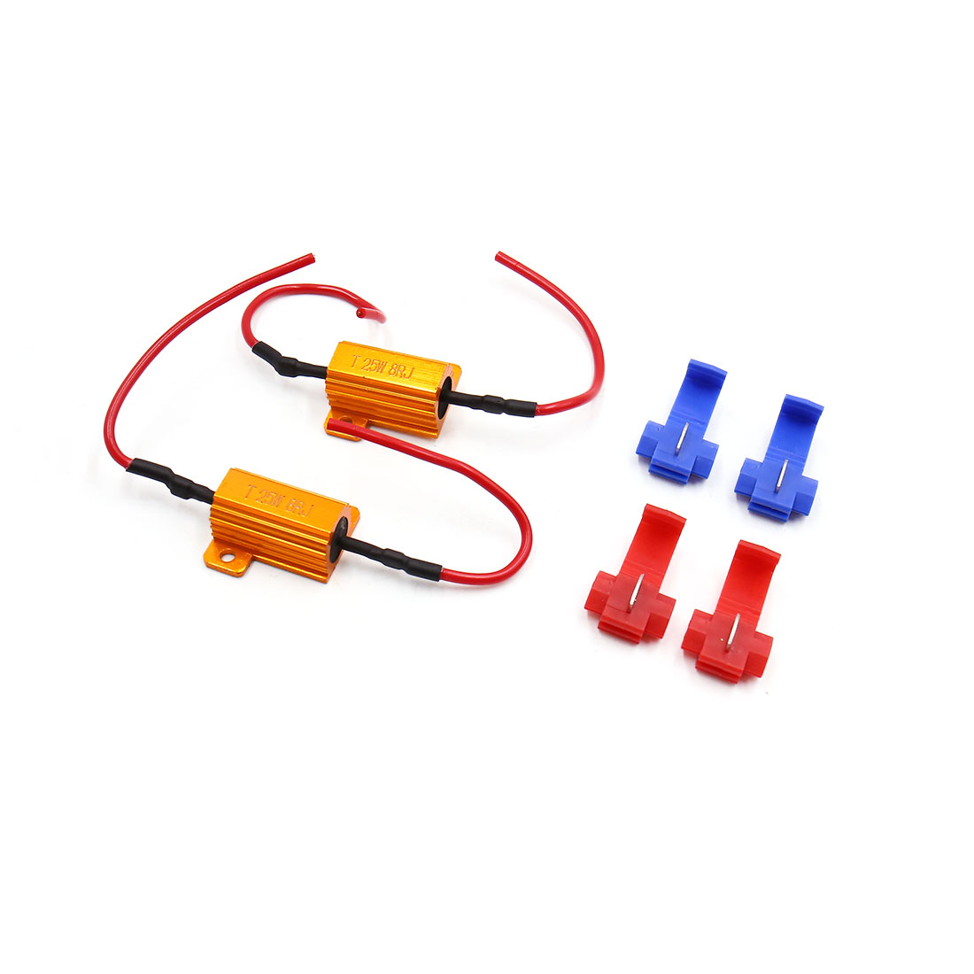 2Pcs 25W 8RJ LED Headlight Canbus Decoder No Error Free Load Resistor for Car