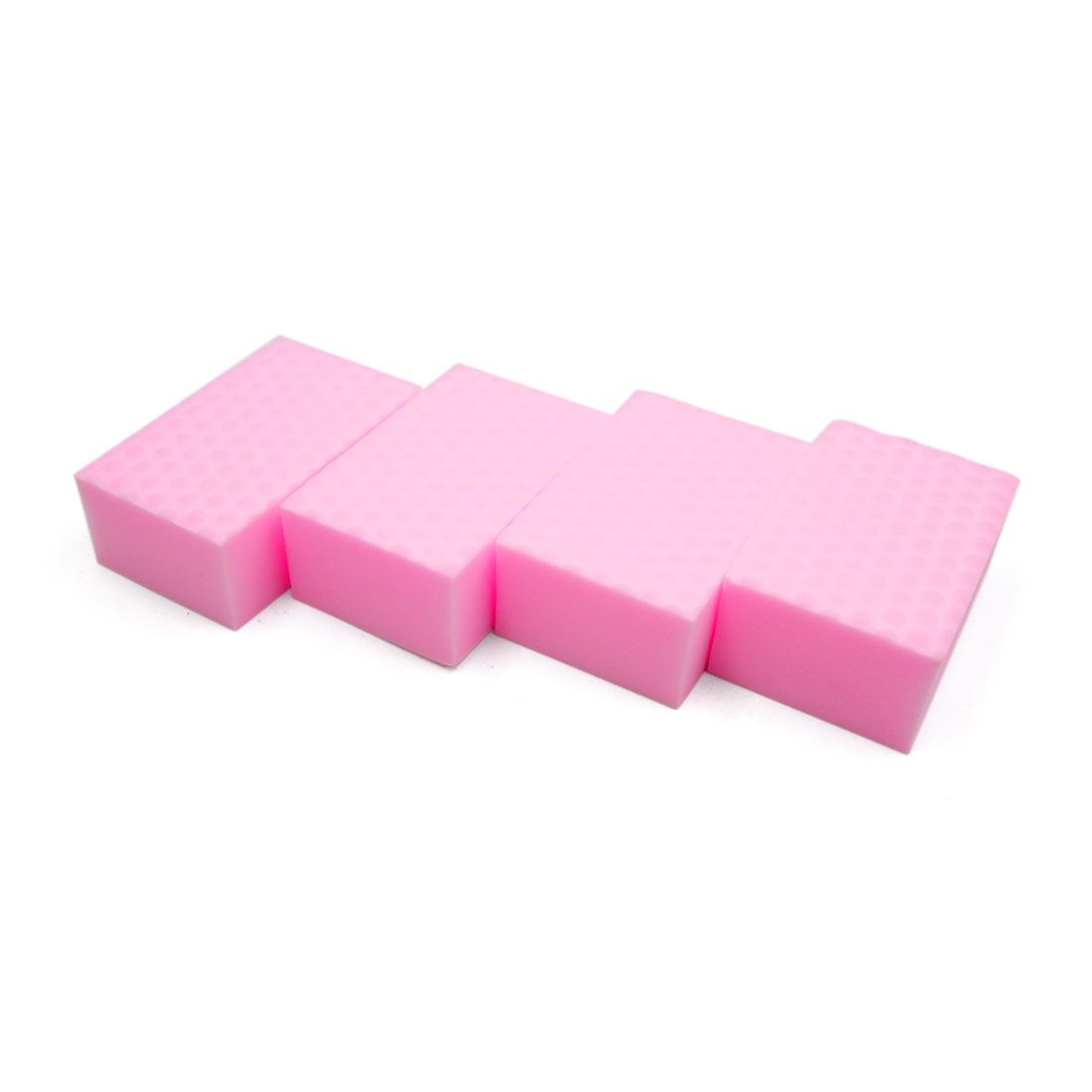 4Pcs Pink Rectangle Shaped Automobile Car Cleaner Cleaning Tool Washing Sponge