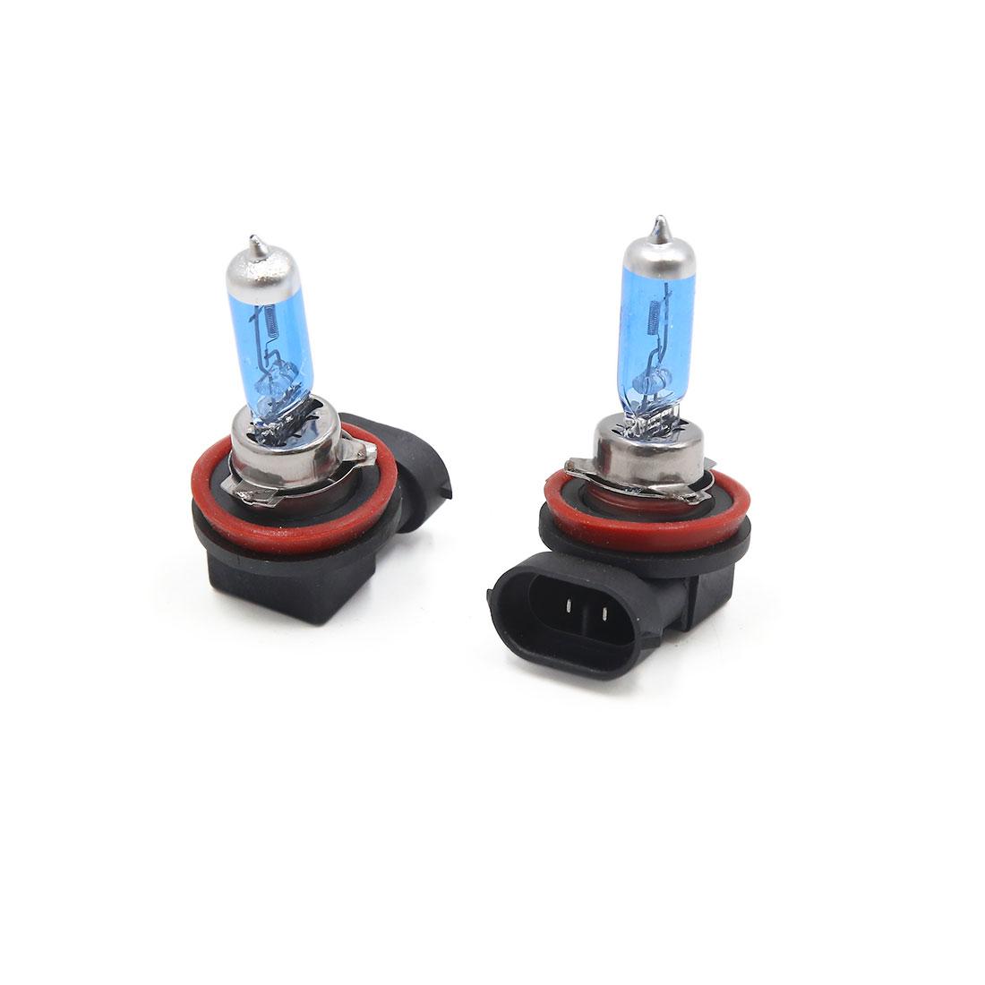 2Pcs 12V 100W H11 White Halogen Foglight Driving Headlight Lamp Bulbs for Car