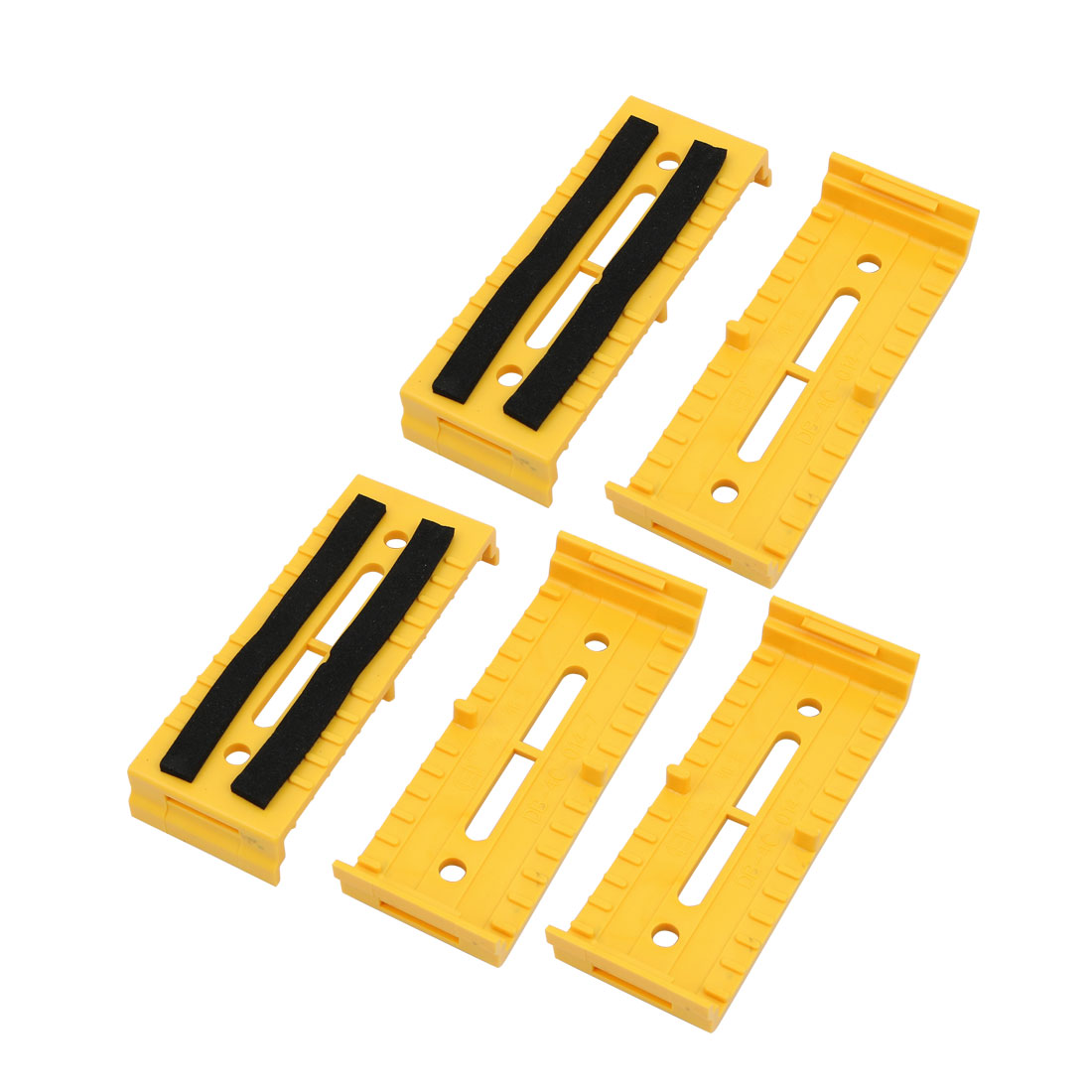 5 Pcs ABS 110mmx40mmx15mm Cable Line Holder Wire Organizer Yellow for Office