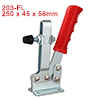 Horizontal Quick-Release Antislip Toggle Clamp 500lbs Capacity 203-FL