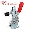 Horizontal Quick-Release Antislip Toggle Clamp 500 lbs Capacity 225-D