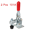 2pcs Vertical Quick-Release Antislip Toggle Clamp 110 lbs Capacity 101A