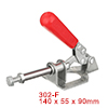 Push Pull Quick-Release Antislip Toggle Clamp 300lbs Capacity 302-F