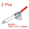 Pull Button Quick-Release Triangle Lever Latch Type Toggle Clamp 496 lbs Capacity 40324 2pcs