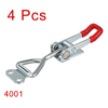 4pcs Pull Button Quick-Release Triangle Lever Latch Type Toggle Clamp 220 lbs Capacity 4001