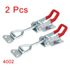2pcs Pull Button Quick-Release Triangle Lever Latch Type Toggle Clamp 220 lbs Capacity 4002