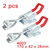 2pcs Pull Button Quick-Release Triangle Lever Latch Type Toggle Clamp 220 lbs Capacity 4003